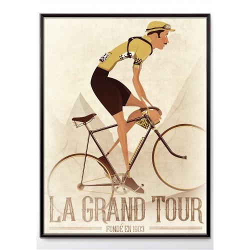 Tour de France Vintage Style Poster