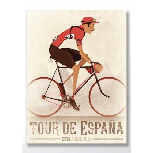 Vuelta a España Vintage Style Poster