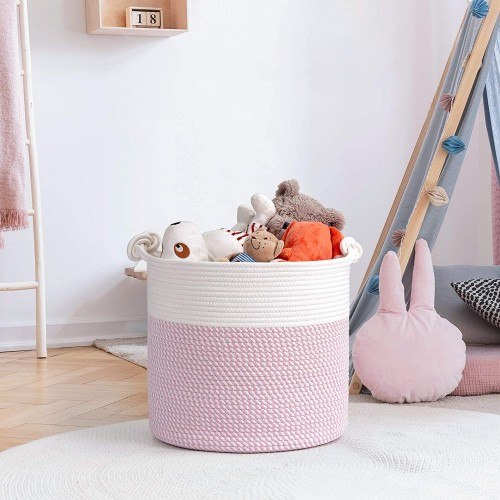 Pink Baby Laundry Basket