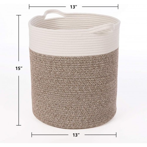 Tall Cotton Rope Basket