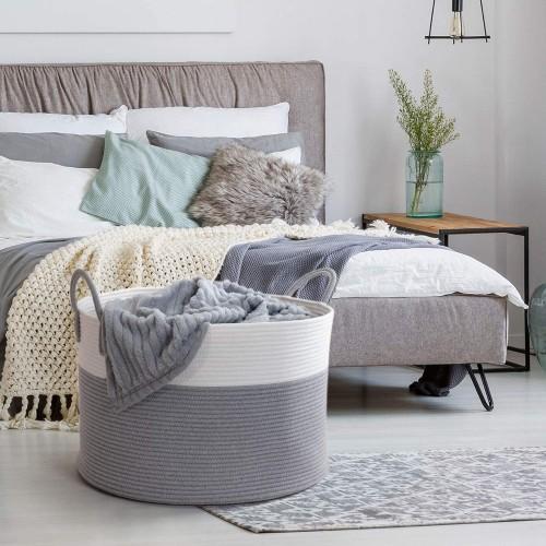 Large Grey Storage Basket