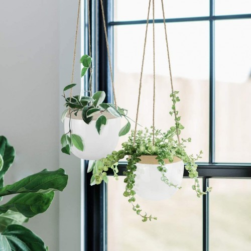 Indoor Ceramic Hanging Planters