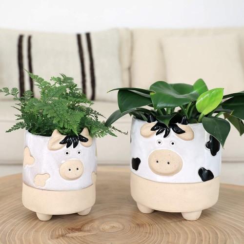 Cow Shaped Succulent Pots