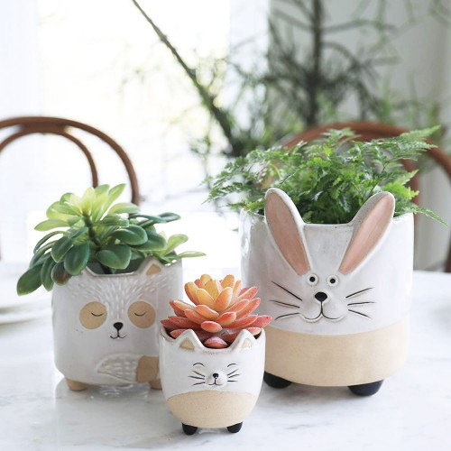 Ceramic Animal Succulent Pots