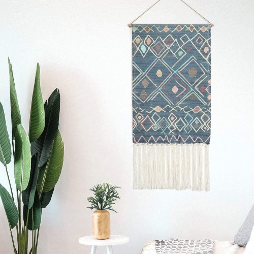 Blue Macrame Wall Hanging