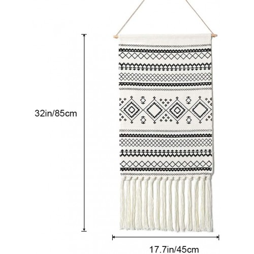 Sendia-Black Macrame Wall Hanging