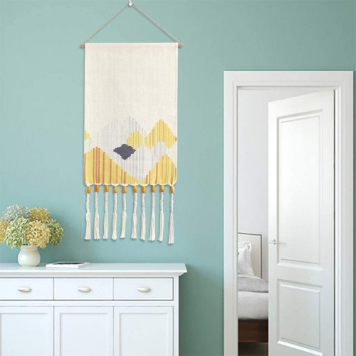 Yellow Macrame Wall Hanging