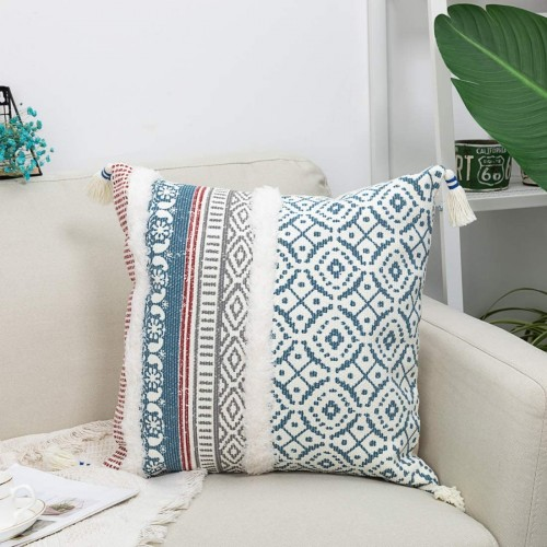 Blue Throw Pillow Case