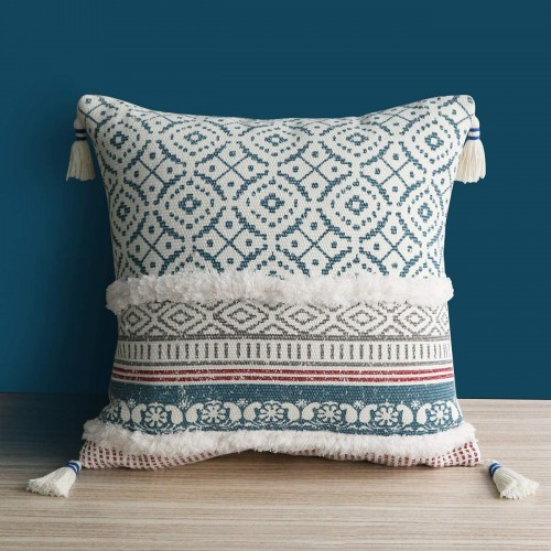 Blue Throw Pillow Case