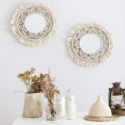 Macrame Hanging Wall Mirror
