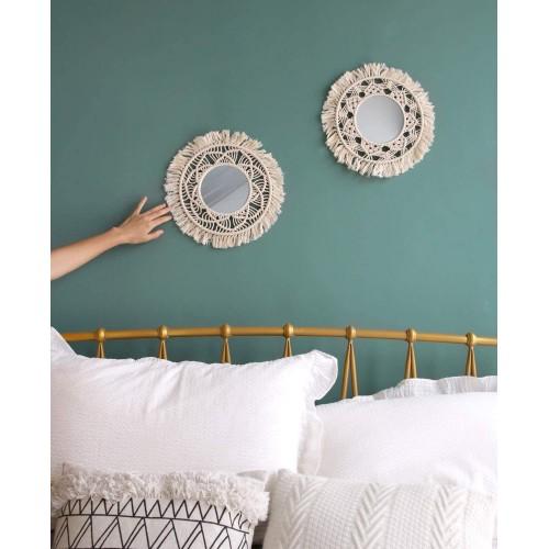 Macrame Hanging Wall Mirror