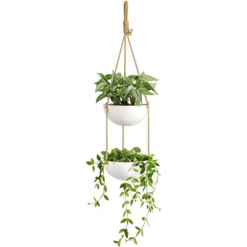 Ceramic Double Hanging Planter