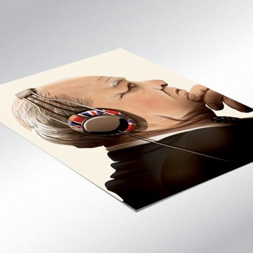 Churchill Lost in Music Poster