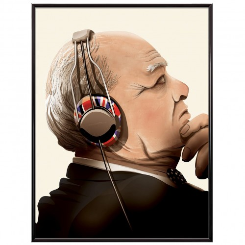 Churchill Lost in Music Poster