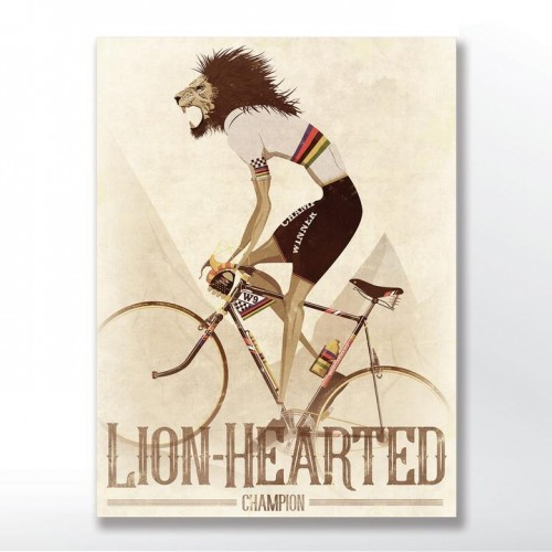 Lion-Hearted Champion Bicycle Poster