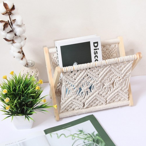 Macrame Magazines Newspapers Holder