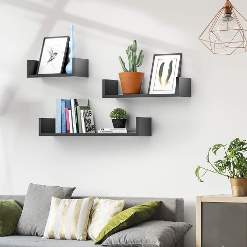 U-Shaped Floating Wall Shelves
