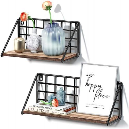 Rustic Foldable Floating Shelves
