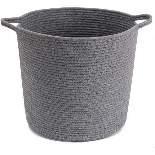 Grey Large Storage Basket