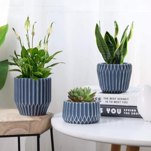 Geometric Cement Succulent Pot