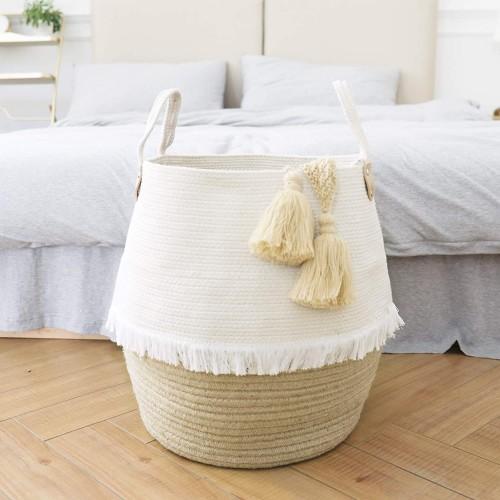 Cotton Jute Storage Basket