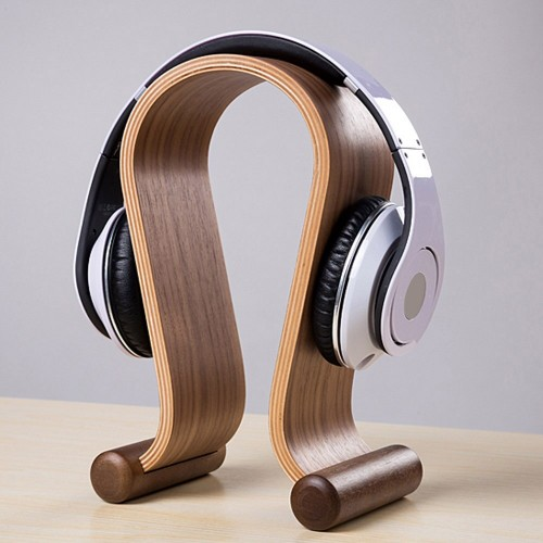 Wooden Headset Stand Holder