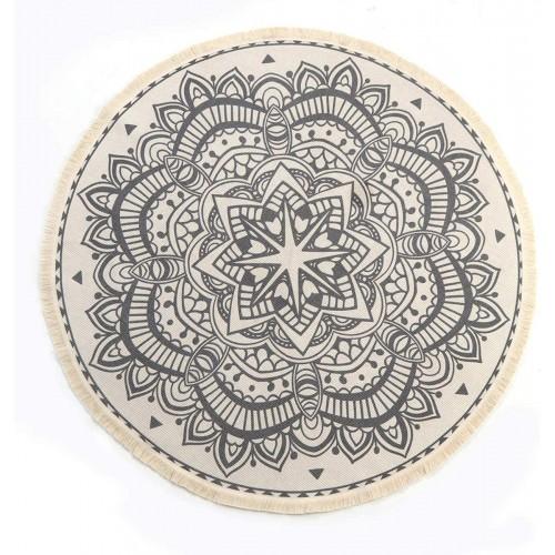 Bohemian Cotton Round Rug