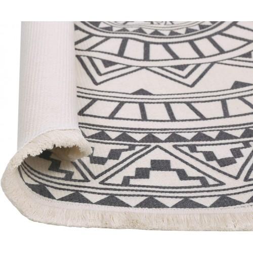 Round Cotton Rug with Tassel