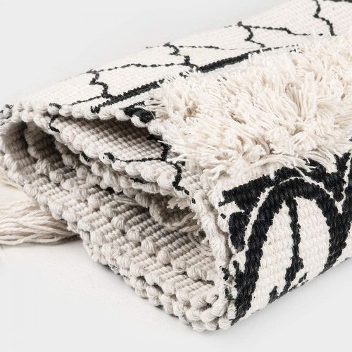 Black Cotton Area Rug