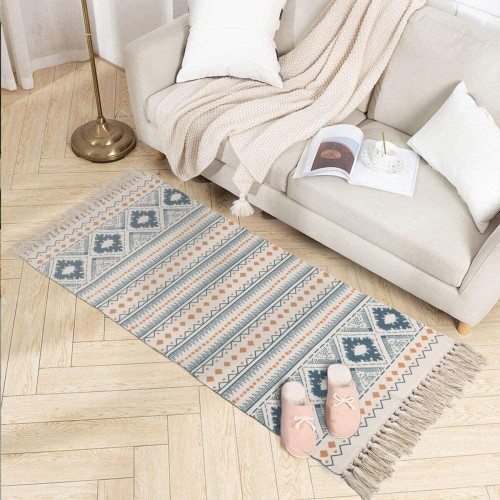 Geometric Cotton Area Rug