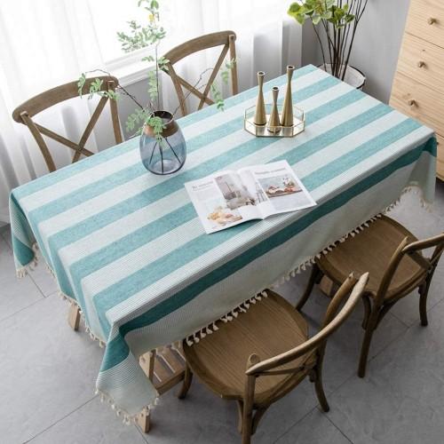 Cotton Linen Rectangular Tablecloth