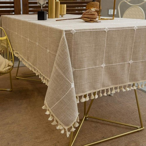 Cotton Linen Rectangular Tablecloth