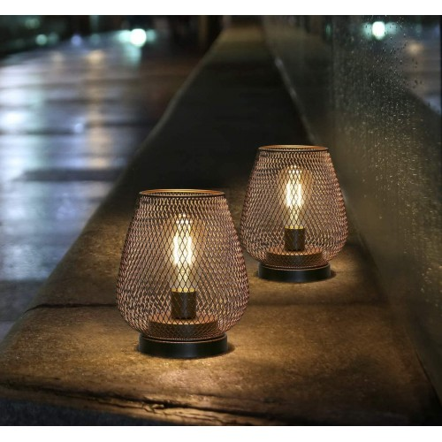 Metal Cage Table Lamps