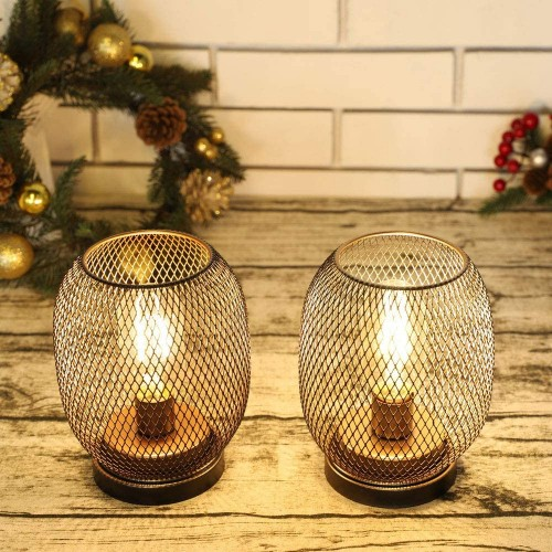 Round Cage Table Lamps