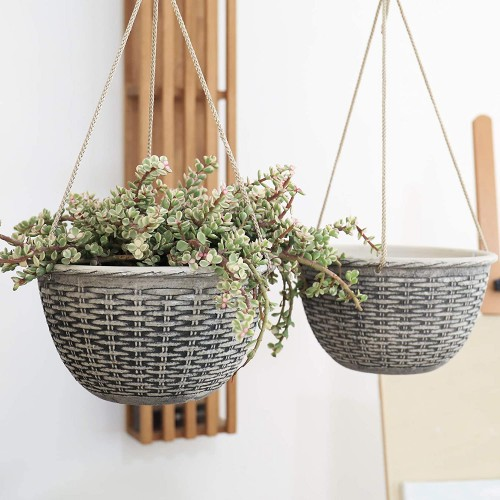 Weave Pattern Hanging Planters