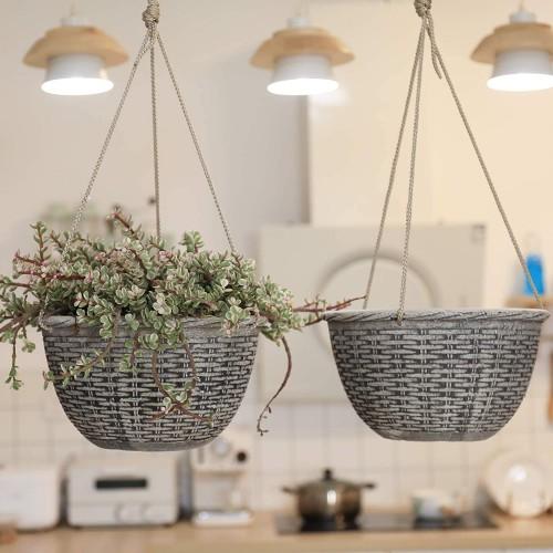 Weave Pattern Hanging Planters