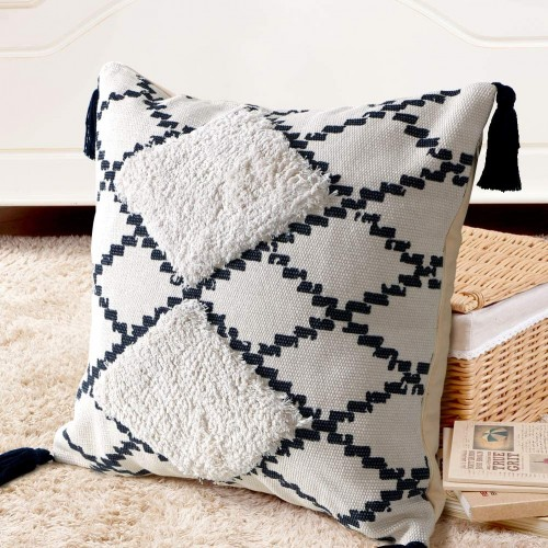 Navy Throw Pillow Cover
