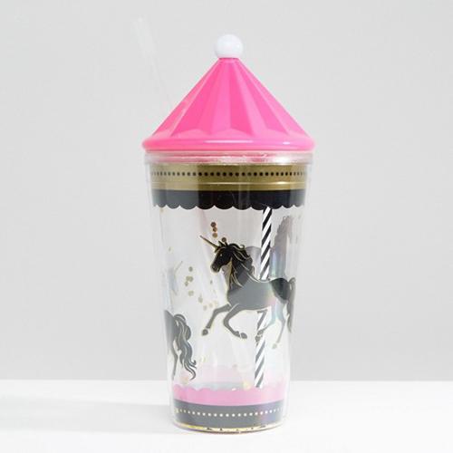 Unicorn Carousel Drinking Cup