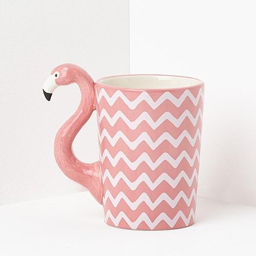 Chevron Tropical Pink Flamingo Mug