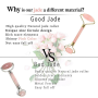 Jade Face Roller Rose Quartz & Gua Sha Massage Natural Stone Gift Set Anti-Aging Wrinkles