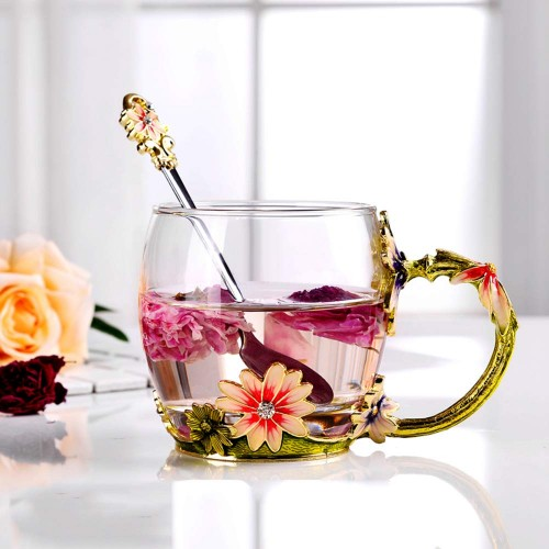 Rose Flower Tea 3D Cup