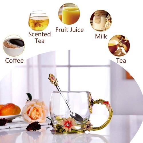Rose Flower Tea Cup