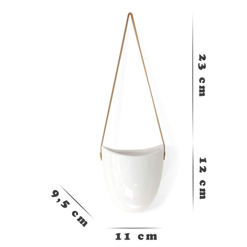 Ceramic Hanging Planter | Set of 3